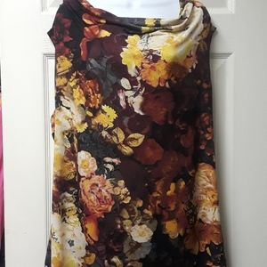 Fall Floral Cowl neck